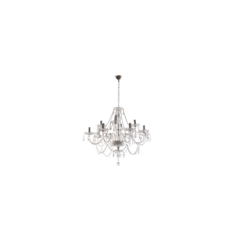 Lámpara 12 luces Krakow cristal