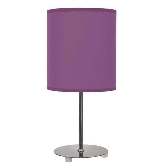 Lámpara sobremesa color berenjena