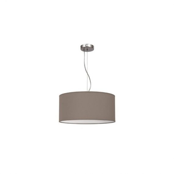 Lámpara colgante regulable marrón topo 50