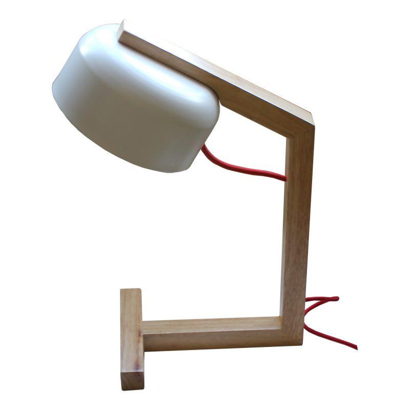 Lámpara sobremesa madera y metal