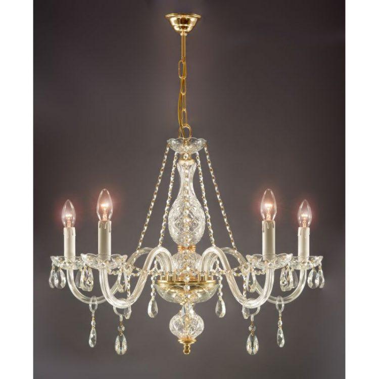 Lámpara 5 luces Strauss