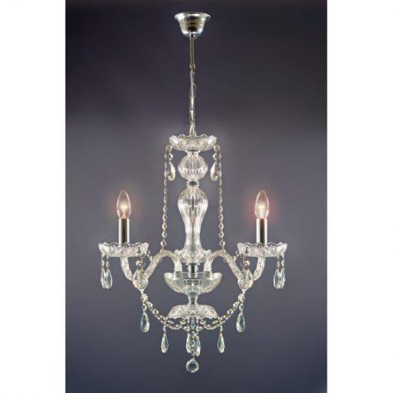 Lámpara 3 luces Krakow cristal