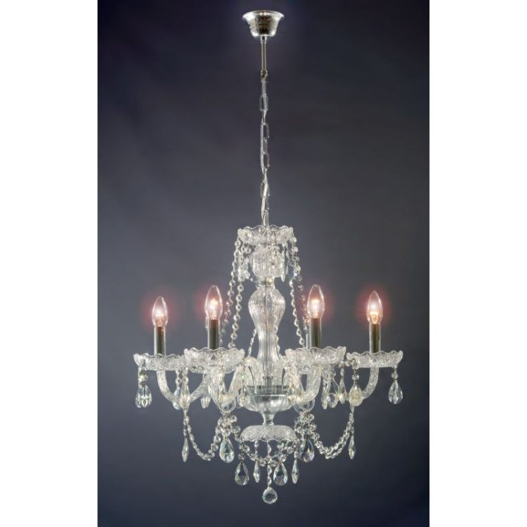 Lámpara 6 luces Krakow cristal