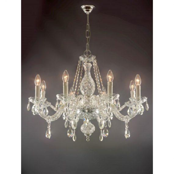 Lámpara 8 luces Krakow cristal