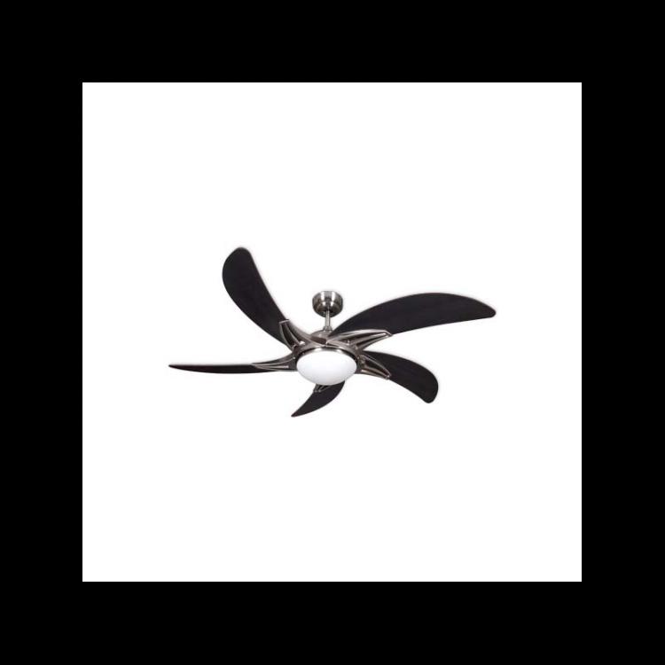 Ventilador 5 aspas negro wengue
