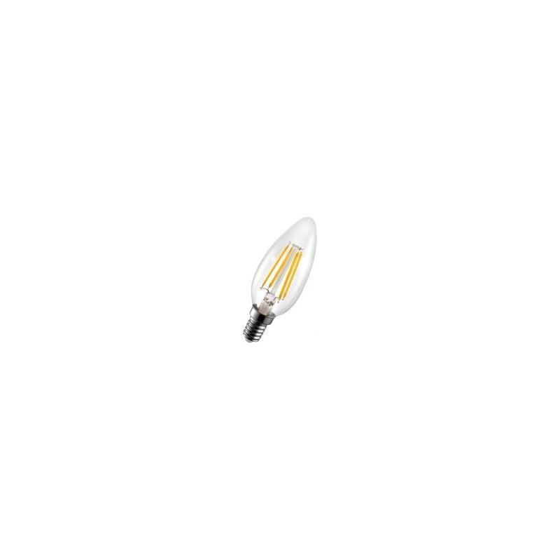 Bombilla Filamento LED 4W E14 Vela Flama 3000K