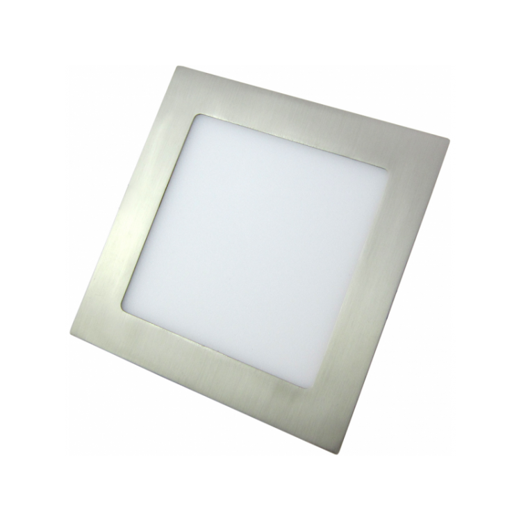 Downlight LED Cuadrado Níquel Satinado 12W