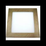 Downlight LED Cuadrado Cuero 18W 6000K