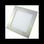 Downlight LED Cuadrado Níquel Satinado 18W