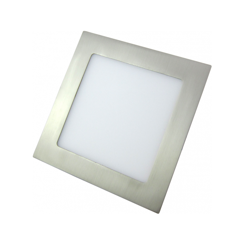 Downlight LED Cuadrado Níquel Satinado 18W