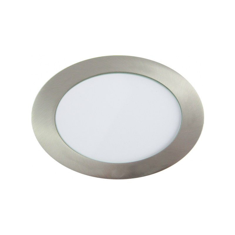 Downlight LED Redondo Níquel Satinado 12W 6000K