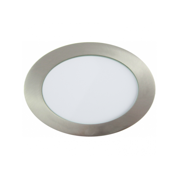 Downlight LED Redondo Níquel Satinado 18W 3000K