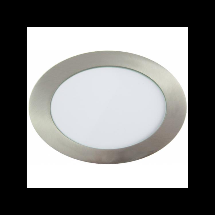 Downlight LED Redondo Níquel Satinado 18W 3000K