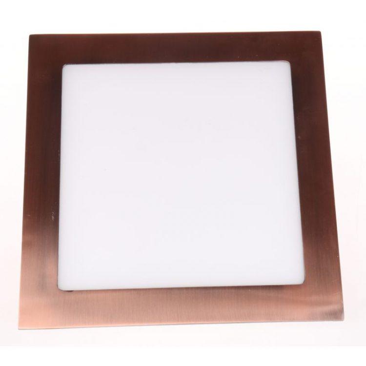Downlight LED Cuadrado Bronce Viejo 6W 4500K