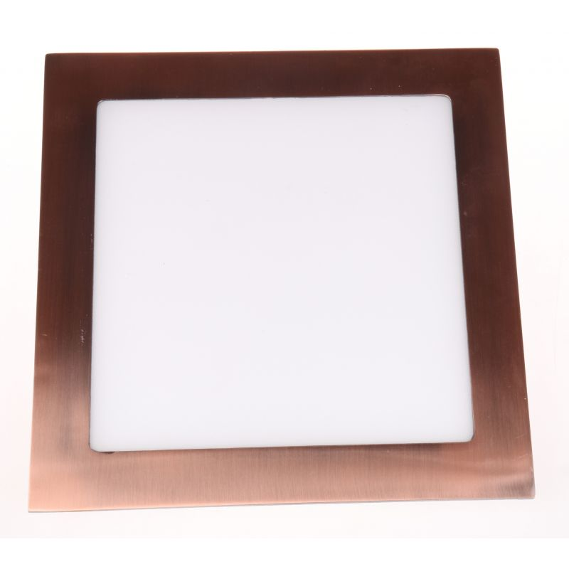 Downlight LED Cuadrado Bronce Viejo 12W 4500K