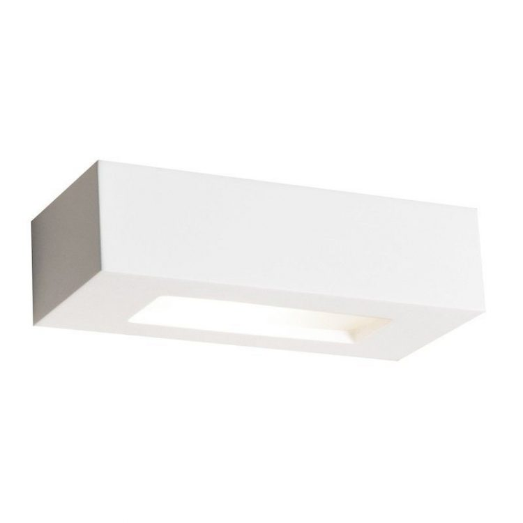 Aplique Yeso 1L rectangular