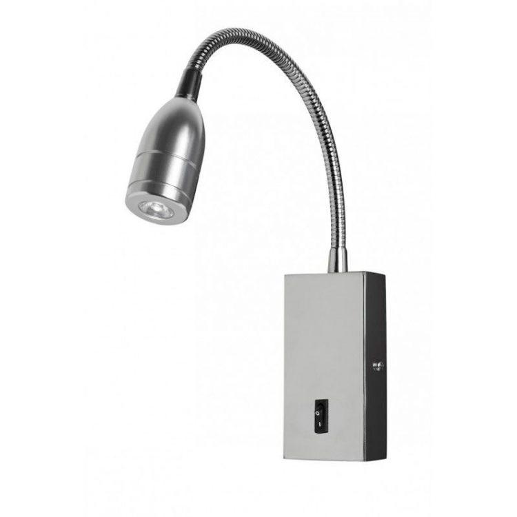 Aplique LED lector cromo