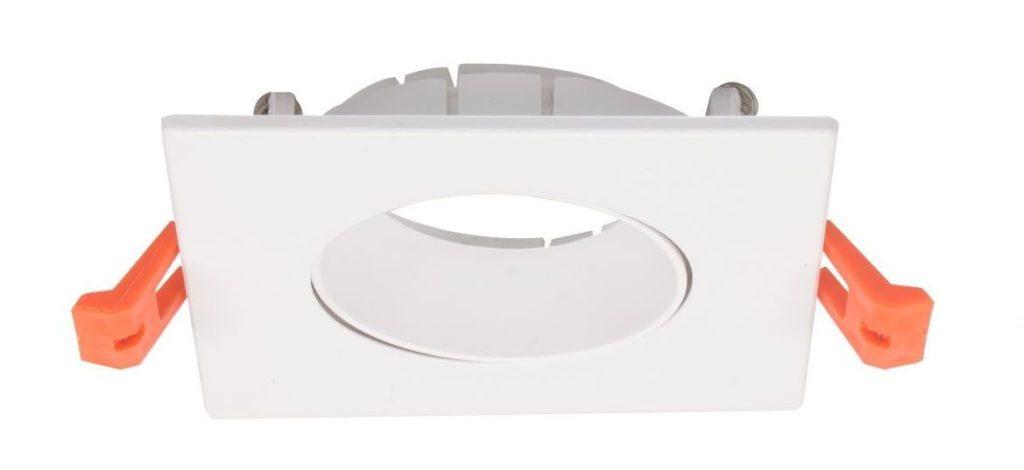 EMPOTRABLE PVC CUADRADO 1 LUZ BLANCO PARA GU10