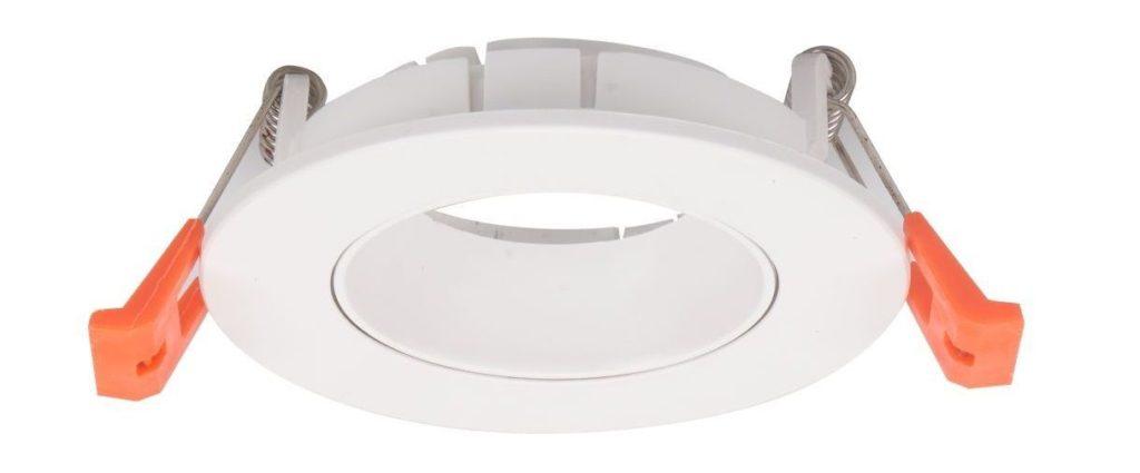 EMPOTRABLE PVC REDONDO 1 LUZ BLANCO PARA GU10