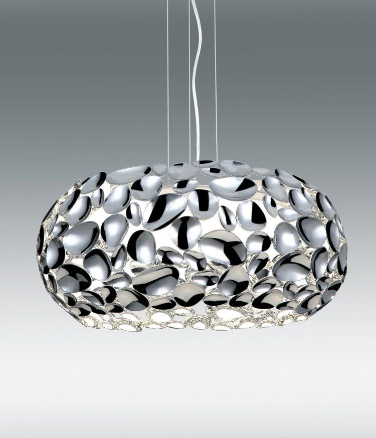LAMPARA COLGANTE CROMO 24W LED 4000K(N)/3000K(W)