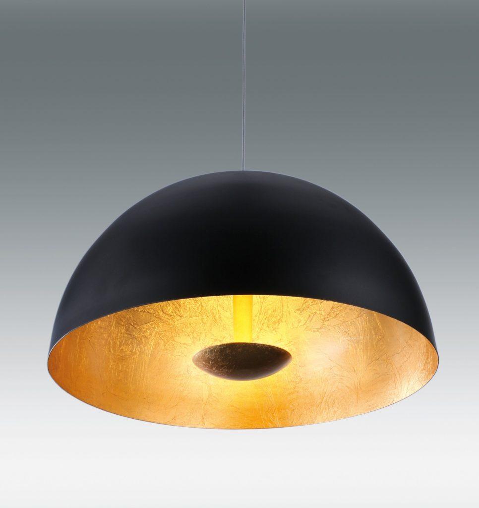 LAMPARA COLGANTE NEGRO+ORO 36W LED 4000K