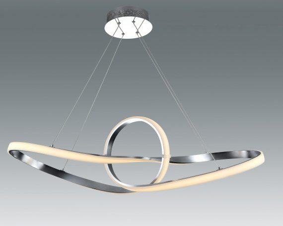 LAMPARA COLGANTE PLATA 58W LED 4000K