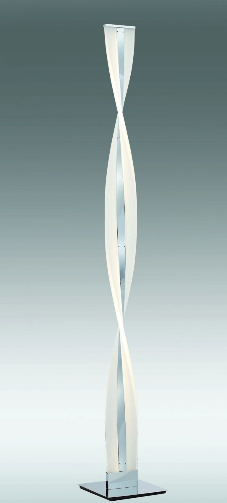 PIE TWIST CROMO 37W LED 4000K DIMMER MANDO RF