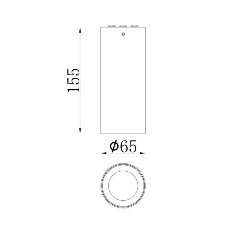 medidas de plafon aluminio redondo para bombilla gu10