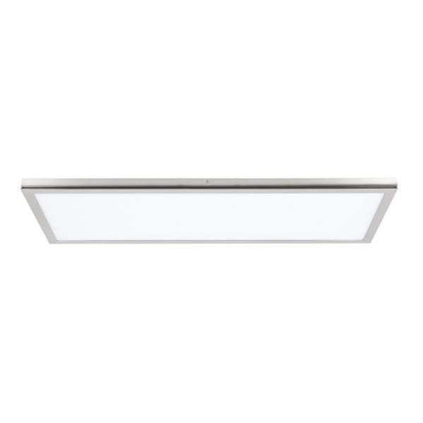 plafon superf 72w 6400k tolstoi niquel satinado 30x90x2 3 5760lm - Todolampara - Lámpara Plafon Superficie Led Tolstoi 30x90