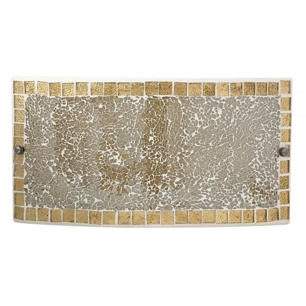 aplique rectangular carbono ambar 1xe27 17x32 5 1 - Todolampara - Lámpara Aplique Carbono Ambar 17x32.5 cm