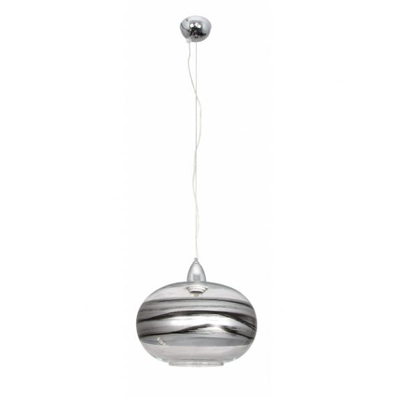 colgante-bola-chata-ambarina-1xe27-plata-negro-regx30d