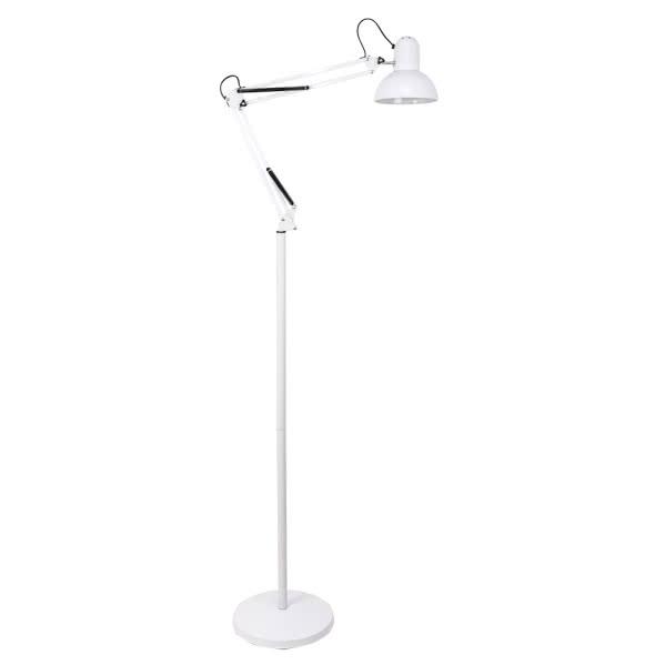 flexo de pie 185cm antigona articulable 1xe27 blanco 142 - Todolampara - Lámpara de Pie Flexo Blanco