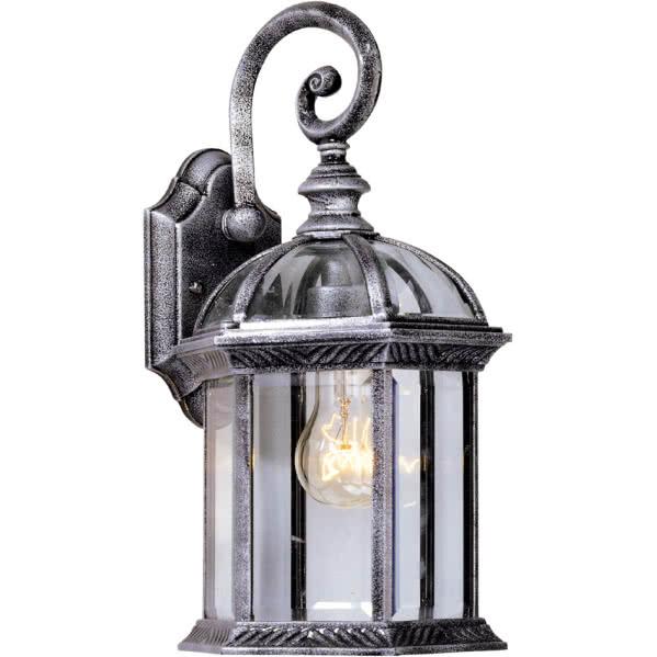 aplique exterior amapola 1xe27 negro plata - Todolampara - Lámpara Aplique Exterior Amapola Plateado