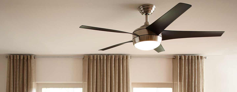 lámpara ventilador con luz