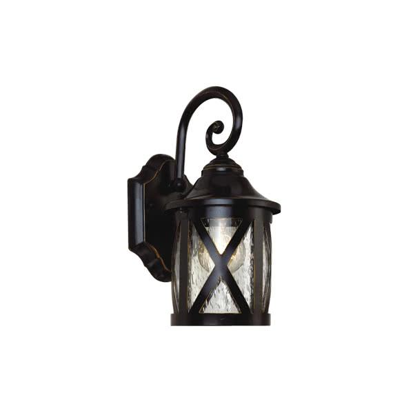 aplique exterior borne roble 1xe27 30x12 - Todolampara - Lámpara Aplique Exterior Borne Roble