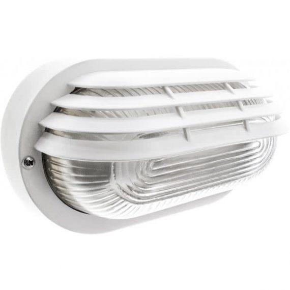 foco exterior aluminio blanco