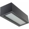 aplique exterior aluminio y cristal moderno con bombilla