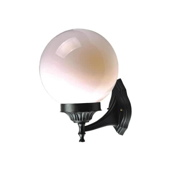 aplique exterior esfera negro 1xe27 35 80x25 d - Todolampara - Lámpara Aplique Esfera Exterior Negro