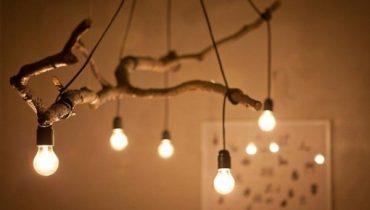 Como combinar el estilo rustico con lámparas modernas