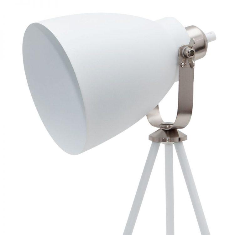 lampara sobremesa tripode getting blanco pantalla