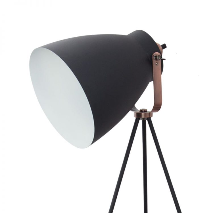 lampara pie tripode getting negro pantalla