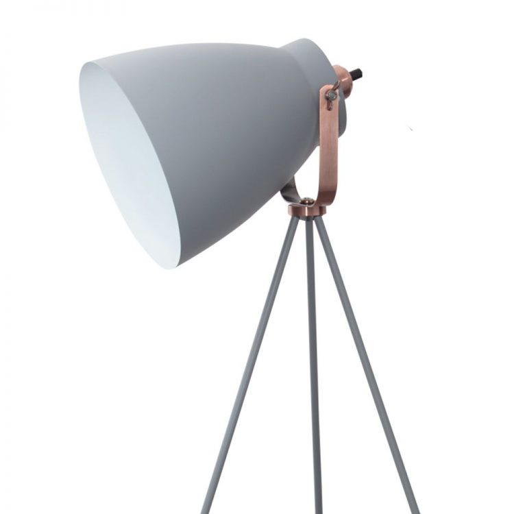 lampara pie tripode getting gris pantalla