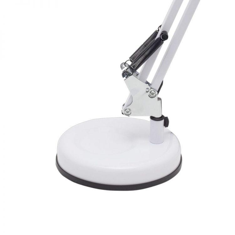 062871065 Flexo escritorio Antigona Blanco Cromo detalle base - Todolampara - FLEXO ARTICULABLE MOD. ANTIGONA ACABADO CROMO