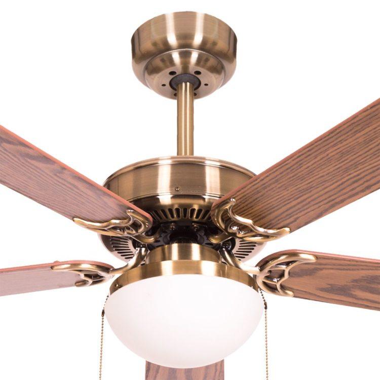detalle ventilador heracles color cuero