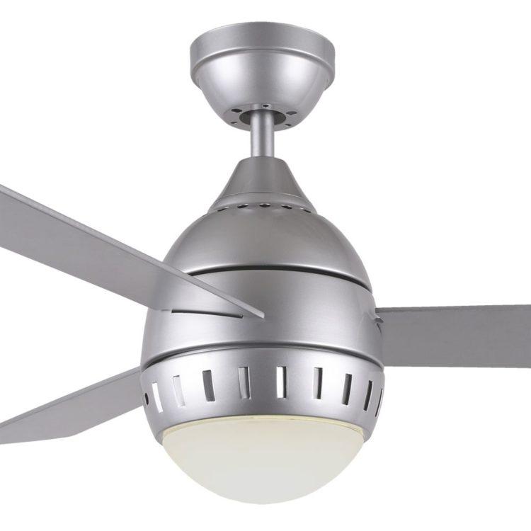 detalle ventilador lombarda plata con luz led