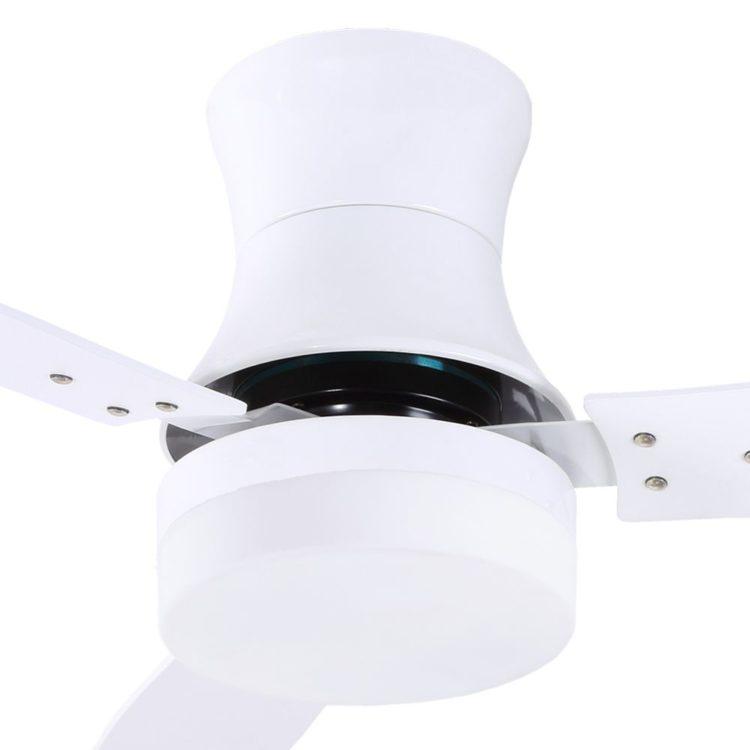 detalle ventilador de techo buran blanco