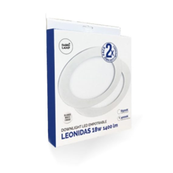 caja downlight empotrable led redondo blanco leonidas