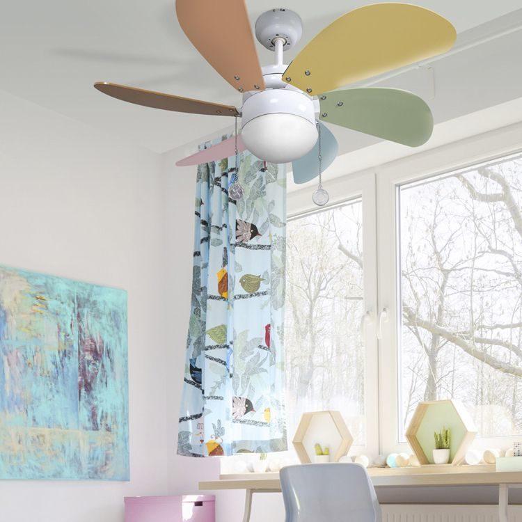 sugerencia de ventilador delfin en habitacion infantil