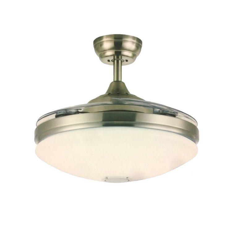 ventilador de techo con altavoz y luz led mallorca
