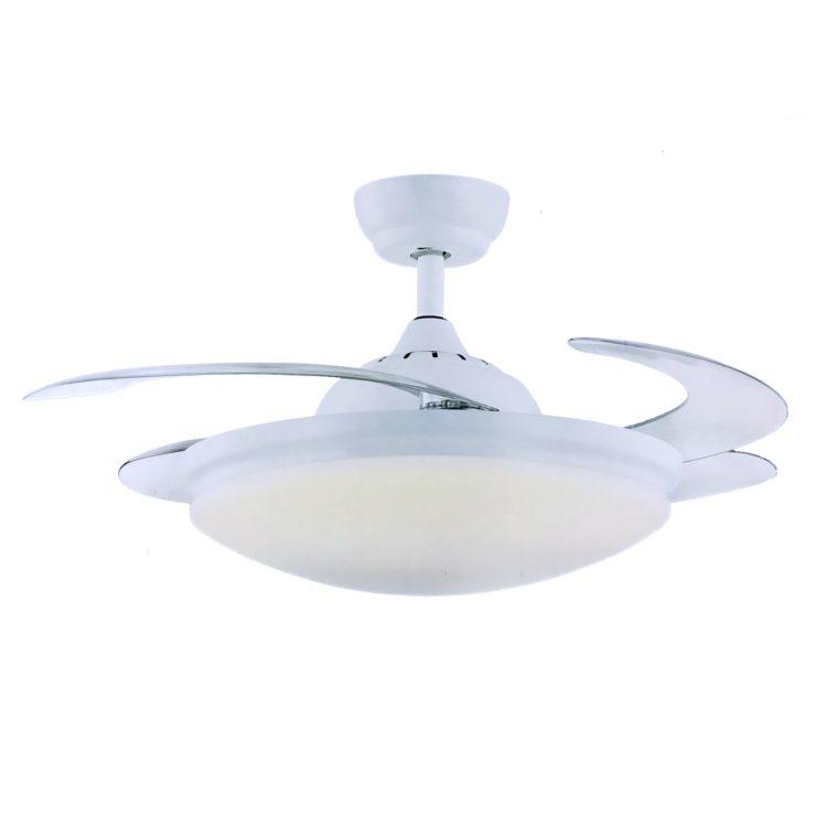 ventilador de techo con luz led modelo ibiza color blanco